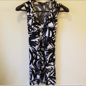 Black & White Abstract Print Dress